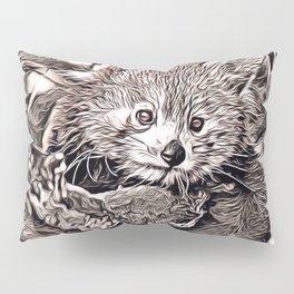 Rustic Style - Red Panda Pillow Sham