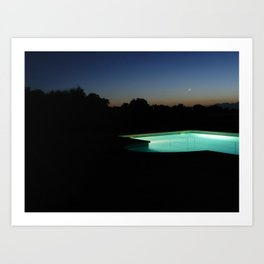 Glowing Pool Art Print