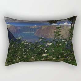 Blackberry Patch 3D Fractal Render Rectangular Pillow