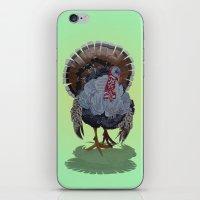 turkey iPhone & iPod Skins featuring wild turkey by Ruud van Koningsbrugge