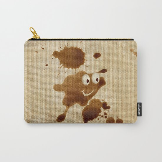 The Smile of Coffee Drop - Old Paper Style Carry-All Pouch