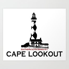 Cape Lookout - North Carolina. Art Print