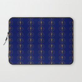flag of indiana 2-midwest,america,usa,carmel, Hoosier,Indianapolis,Fort Wayne,Evansville,South Bend Laptop Sleeve
