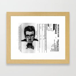 disco synthesisers, daily tranquilizers Framed Art Print