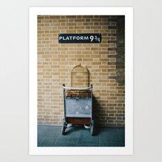 Platform 9.3/4 Art Print
