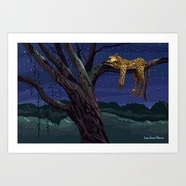 Leopard - Night Art Print