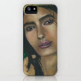 Lady in Green iPhone Case