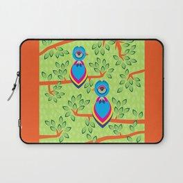 Tropical birds on trees Laptop Sleeve