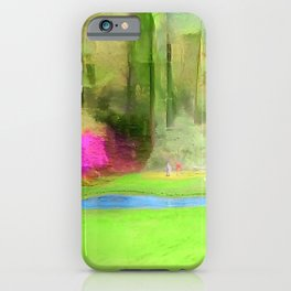 The Masters Golf - The Masters 12th Hole - Augusta National Golf Club iPhone Case