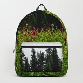Mount Rainier Wildflower Adventure II - Pacific Northwest Mountain Forest Wanderlust Backpack