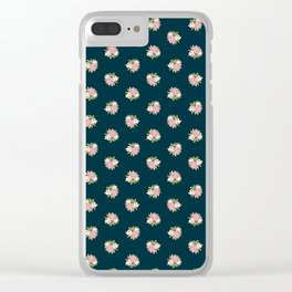 Fancy Floral Clear iPhone Case