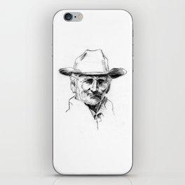 Drawing 4 Fun.49 Charcoal Drawing of Old Cowboy iPhone Skin