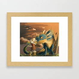 Astrid and Stormfly Framed Art Print