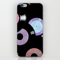 records iPhone & iPod Skins featuring Records by Whitney Retter