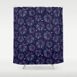 Star Spangled Night Shower Curtain