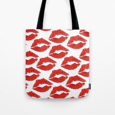 fire engine red lips Tote Bag