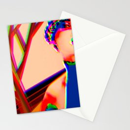 Pink Model Art Stationery Cards