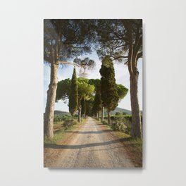 Oh, Italy: Tuscany landscape at sunset Metal Print