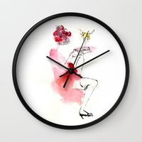 reading Wall Clocks featuring Reading by Hyegallery