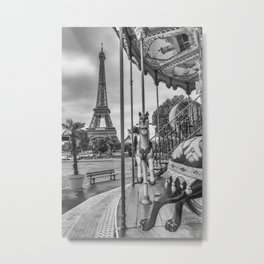 Typical Paris | monochrome Metal Print