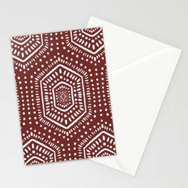 Boho Painted Auburn Stationery Cards