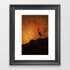 Night silhouette Framed Art Print