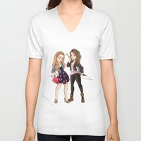 teen wolf V-neck T-shirts featuring Teen Wolf Ladies by Laia™