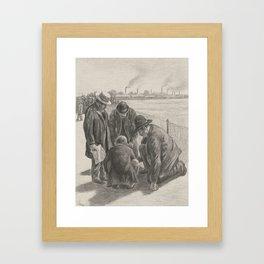 Illustration for 'Coins de Paris - le petit betting' Maximilien Luce (1858 - 1941) Framed Art Print