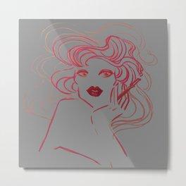 Pink Smoke 2.0 Metal Print