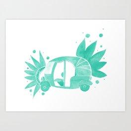 Mint Rickshaw Art Print