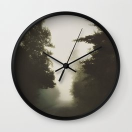Autumn morn. Wall Clock