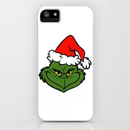 a mean one iPhone Case