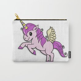 Flying Pink Unicorn Carry-All Pouch
