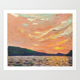 Tom Thomson - Smoke Lake - Canada, Canadian Oil Painting - Group of Seven Art Print
