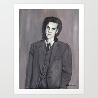 nick cave Art Prints featuring Nick Cave by Melinda Hagman