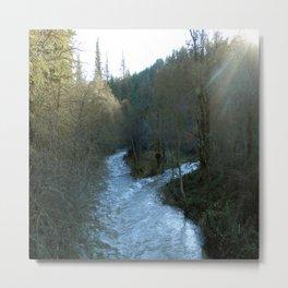 Rushing waters at Salt creek.... Metal Print