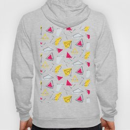 Red yellow geometric Hoody