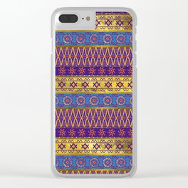 Colorful African Ethnic Tribal Pattern Clear iPhone Case