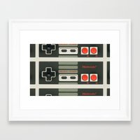 nintendo Framed Art Prints featuring Nintendo  by Cloz000