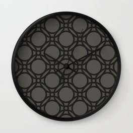 Black and Grey Interlinking Circles Wall Clock