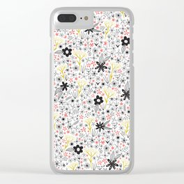 teeny tiny floral pattern Clear iPhone Case