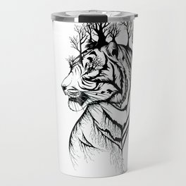 Lady Tiger in the Trees Travel Mug