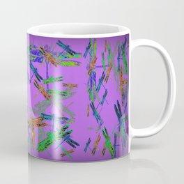 Decorative Green-Purple Dragonfly Lilac Skies Abstract Design Coffee Mug