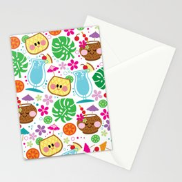 aloha blue hawaii Stationery Cards