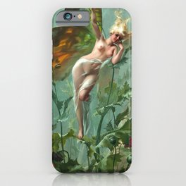 "Luis Ricardo Falero ""The Poppy Fairy (also known as La Femme Papillon)"" iPhone Case"