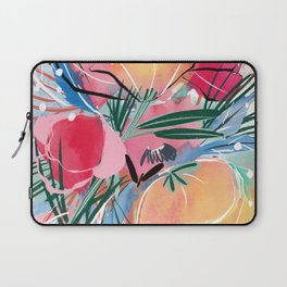 Red, Pink, and Yellow Floral Laptop Sleeve