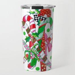 Candy Cane Party Travel Mug