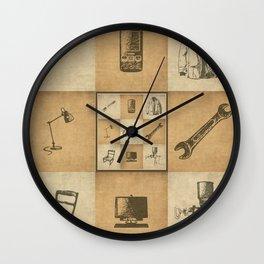 Vintage Hand -drawings Wall Clock