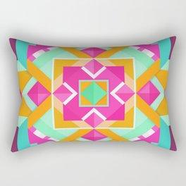 Geometric Tribal Mandala Inspired Modern Trendy Vibrant (Mint Green, Maroon, Wine, Hot Pink, Orange) Rectangular Pillow