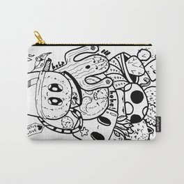 Cactus Love Easy Doodle funny faces Carry-All Pouch